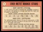 1969 Topps #31  Mets Rookies  -  Gary Gentry / Amos Otis Back Thumbnail