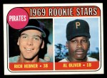 1969 Topps #82  Pirates Rookies  -  Rich Hebner / Al Oliver Front Thumbnail