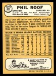1968 Topps #484   Phil Roof Back Thumbnail