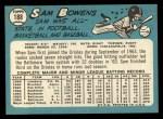 1965 Topps #188   Sam Bowens Back Thumbnail