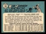 1965 Topps #363   Bob Johnson Back Thumbnail