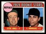 1969 Topps #49 COR Royals Rookies  -  Steve Jones / Ellie Rodriguez Front Thumbnail