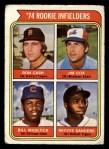 1974 Topps #600  Rookie Infielders    -  Bill Madlock / Ron Cash / Jim Cox / Reggie Sanders Front Thumbnail