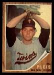 1962 Topps #124 GRN  Bill Pleis Front Thumbnail