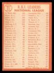 1964 Topps #11  1963 NL RBI Leaders  -  Hank Aaron / Ken Boyer / Bill White Back Thumbnail