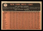 1966 Topps #172   Mets Team Back Thumbnail