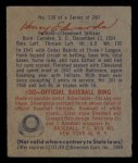 1949 Bowman #136  Hank Edwards  Back Thumbnail