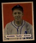 1949 Bowman #138   Warren Rosar Front Thumbnail