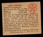 1950 Bowman #16  Roy Sievers  Back Thumbnail