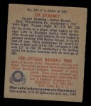 1949 Bowman #104   Eddie Stanky Back Thumbnail