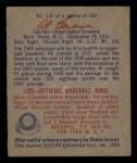 1949 Bowman #132 SCR Al Evans  Back Thumbnail