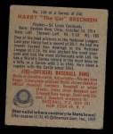 1949 Bowman #158   Harry Brecheen Back Thumbnail