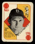 1951 Topps Red Back #16   Preacher Roe Front Thumbnail