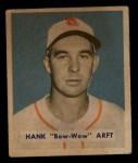 1949 Bowman #139   Hank Arft Front Thumbnail