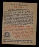 1949 Bowman #90  Gil Coan  Back Thumbnail