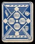 1951 Topps Blue Back #36   Cliff Fannin Back Thumbnail