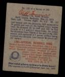1949 Bowman #120  Cliff Fannin  Back Thumbnail