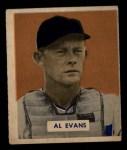 1949 Bowman #132 SCR Al Evans  Front Thumbnail