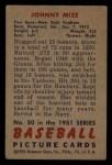 1951 Bowman #50  Johnny Mize  Back Thumbnail
