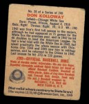 1949 Bowman #28   Don Kolloway Back Thumbnail