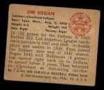 1950 Bowman #7  Jim Hegan  Back Thumbnail