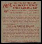 1955 Red Man #11 ALx  Al Rosen Back Thumbnail