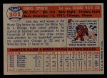1957 Topps #301   Sammy Esposito Back Thumbnail