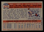 1957 Topps #271   Danny O'Connell Back Thumbnail