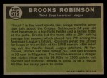 1961 Topps #572  All-Star  -  Brooks Robinson Back Thumbnail