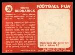 1958 Topps #35  Chuck Bednarik  Back Thumbnail