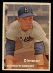1957 Topps #284   Don Zimmer Front Thumbnail