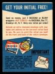 1958 Topps #0    Free Felt Initial Offer Card Back Thumbnail