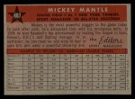 1958 Topps #487  All-Star  -  Mickey Mantle Back Thumbnail