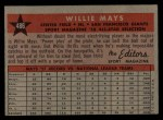 1958 Topps #486   -  Willie Mays All-Star Back Thumbnail