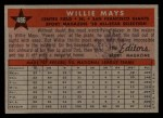 1958 Topps #486  All-Star  -  Willie Mays Back Thumbnail