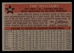1958 Topps #485  All-Star  -  Ted Williams Back Thumbnail