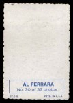 1969 Topps Deckle Edge #30  Al Ferrara    Back Thumbnail