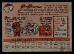 1958 Topps #25   Don Drysdale Back Thumbnail