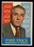 1959 Topps #1   -  Ford Frick Commissioner of Baseball Front Thumbnail