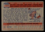 1957 Topps #286  Bobby Richardson  Back Thumbnail