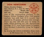 1950 Bowman #23   Don Newcombe Back Thumbnail