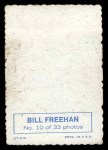 1969 Topps Deckle Edge #10  Bill Freehan    Back Thumbnail