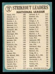 1965 Topps #12  NL Strikeout Leaders  -  Don Drysdale / Bob Gibson / Bob Veale Back Thumbnail