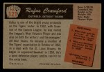 1955 Bowman #121   Rufus Crawford Back Thumbnail