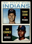 1964 Topps #146  Indians Rookies  -  Tommy John / Bob Chance Front Thumbnail
