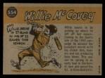 1960 Topps #554  All-Star  -  Willie McCovey Back Thumbnail