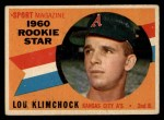 1960 Topps #137   -  Lou Klimchock Rookies Front Thumbnail