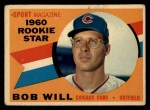 1960 Topps #147   -  Bob Will Rookies Front Thumbnail
