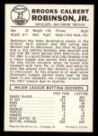 1960 Leaf #27  Brooks Robinson  Back Thumbnail