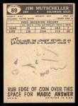 1959 Topps #89  Jim Mutscheller  Back Thumbnail